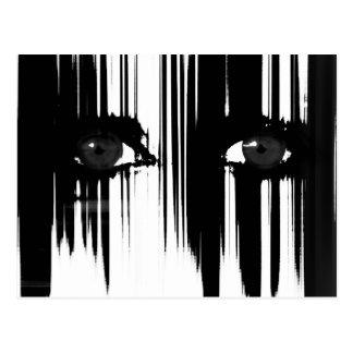 Black and White Dramatic Eyes Postcard