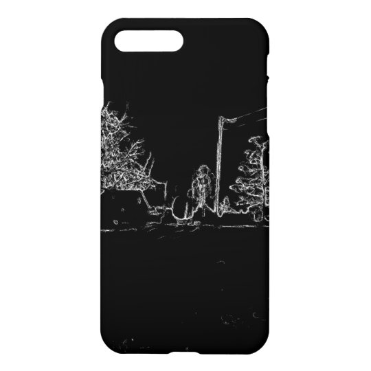 black and white drawing iPhone 7 plus case
