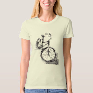 Black and White Drawing Of Bike T-Shirt