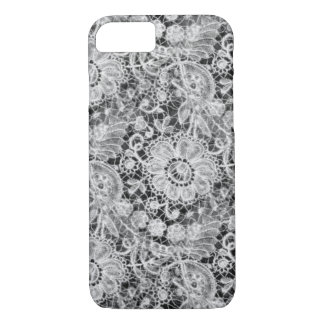 Black and White Duchess Lace iPhone 7 Case
