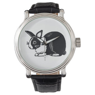 Black and White Dutch Rabbit Wristwatch