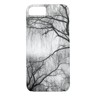 Black and White Eerie Willow Trees Bare Branches iPhone 8/7 Case