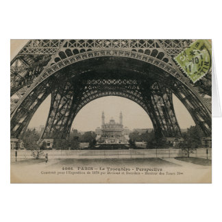 Black and White Eiffel Tower Base Card