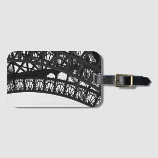 Black and White Eiffel Tower Detail Luggage Tag