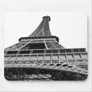 Black and White Eiffel Tower Mousepad