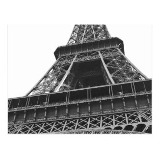 Black and White Eiffel Tower Postcard