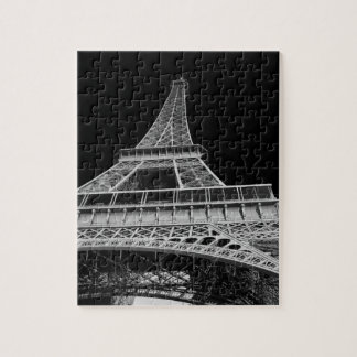 Black and White Eiffel Tower Puzzles