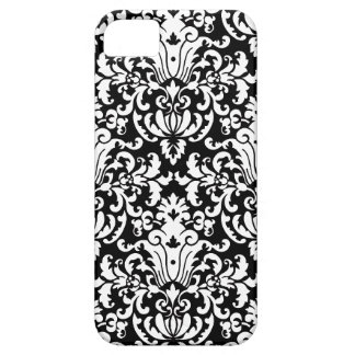 Black and White Elegant Damask Case For The iPhone 5