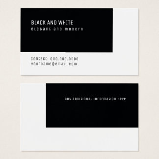 black and white elegant modern minimal business card