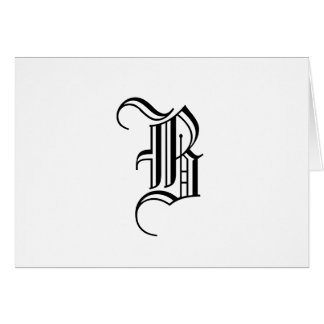 Black and White Elegant Monogram Note Cards