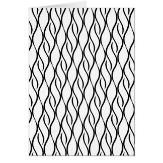 Black and white elegant pattern card
