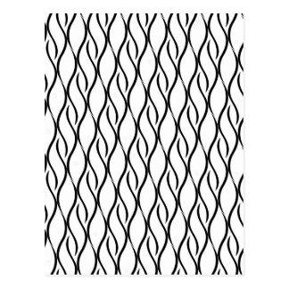 Black and white elegant pattern postcard