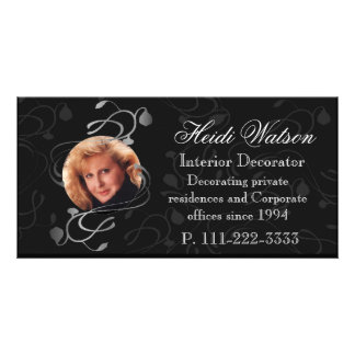 Black and White Elegant Photo Business Cards Picture Card