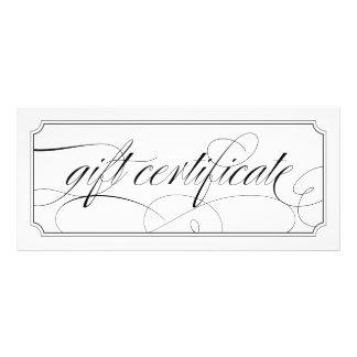 Black and White Elegant Script Gift Certificates