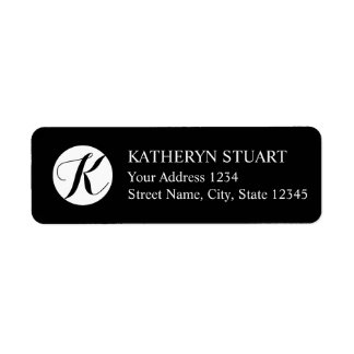 Black and White Elegant Script Monogram