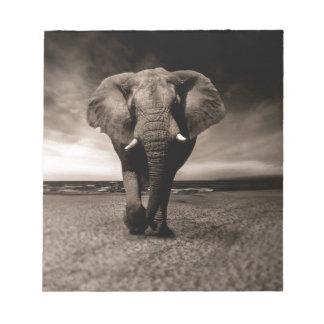 Black And White Elephant Notepad
