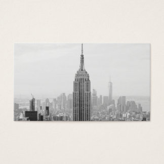 Black and White Empire State Building Manhattan Business Card