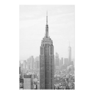 Black and White Empire State Building Manhattan Stationery