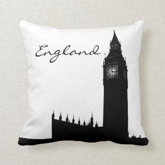 Black and White England LandmarkPillow Throw Pillow