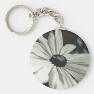 Black and White - Eyed Susan Keychain