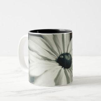 Black and White - Eyed Susan Two-Tone Coffee Mug