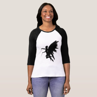 Black and White  Fairy Women's Jersey T-Shirt