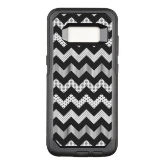 Black and White Fancy Chevron Samsung S8 Case