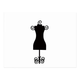 Black and White Fashion Dress Mannequin Postcard