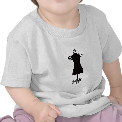 Black and White Fashion Dress Mannequin Tees