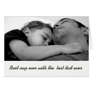 Black and white father's day photo greeting card. card