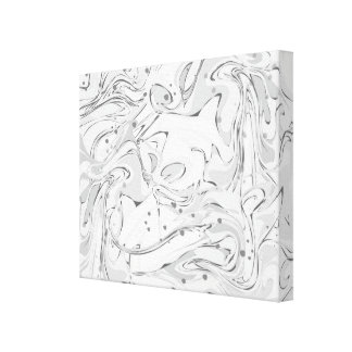 Black and white faux marble texture canvas print