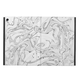 Black and white faux marble texture iPad air case