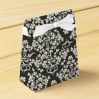Black and White Favor Box