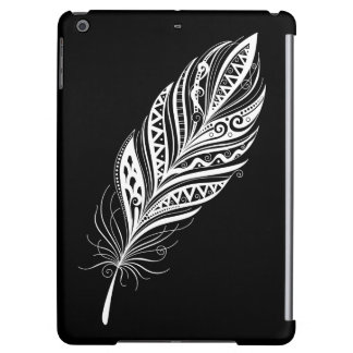 Black and White Feather Case iPad Air Cover