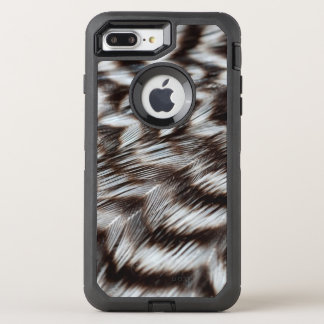 Black and White Feathers in Detail OtterBox Defender iPhone 8 Plus/7 Plus Case
