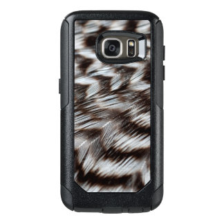 Black and White Feathers in Detail OtterBox Samsung Galaxy S7 Case