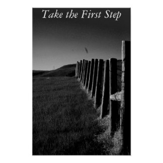 Black and white Fence Poster/Motivational Poster