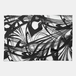 Black and White Fern Glen Kitchen Towel