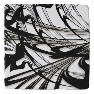 Black and White Fern Glen Trivet