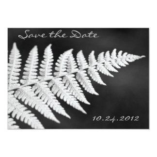 Black and White Fern Save the Date Invitation