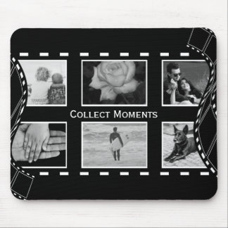 Black and White Film Reel Mouse Pad