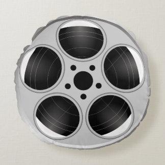 BLACK AND WHITE FILM REEL ROUND PILLOW