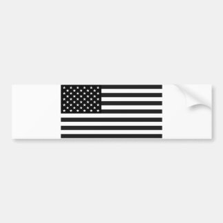 Black and White Flag of the United States Bumper Sticker