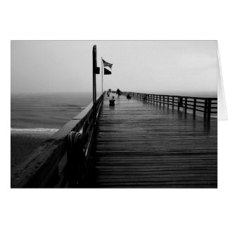 Black and White Flagler Beach pir Photograph Cards