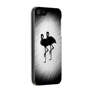 Black and White Flamingo Incipio Feather® Shine iPhone 5 Case