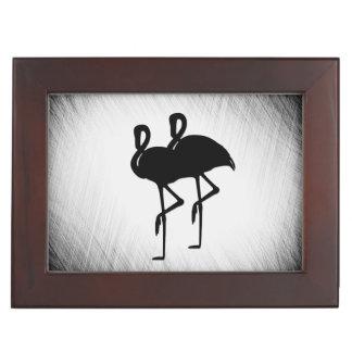 Black and White Flamingo Keepsake Box