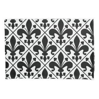 Black and White Fleur de Lis French Classic Pillowcase