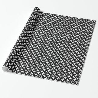 Black and White Fleur De Lis Vintage Tile Pattern