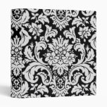 Black and White Floral 3 Ring Binders