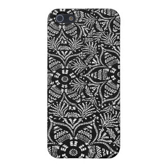 Black and White Floral Design iPhone 5/5S Cases